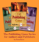 Cover photos of the three books.  Click here for more information on 'The Publishing Game'